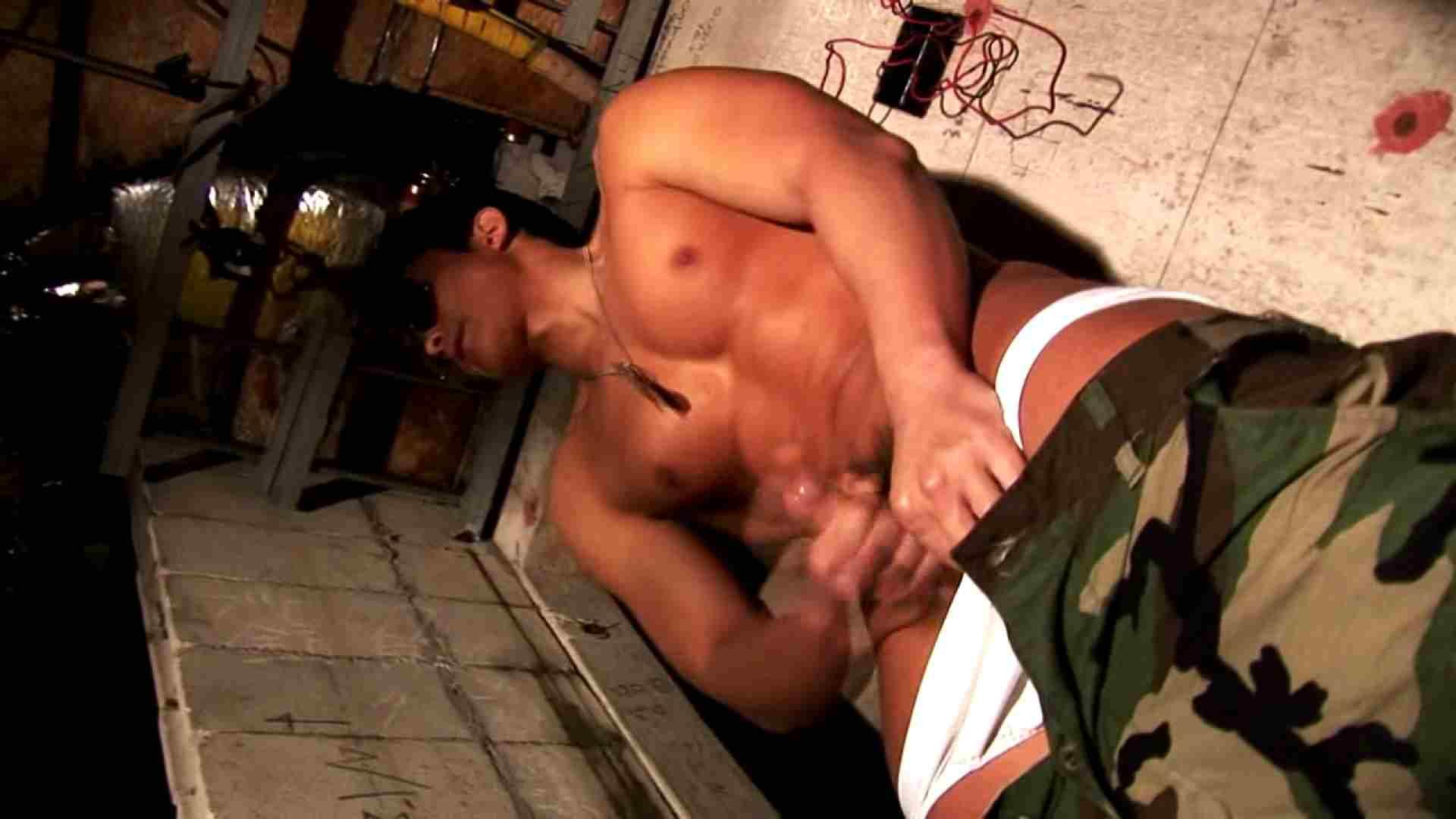 muscle warrior ~男根肉弾戦~01 イケメンたち ゲイ射精シーン 110枚 105