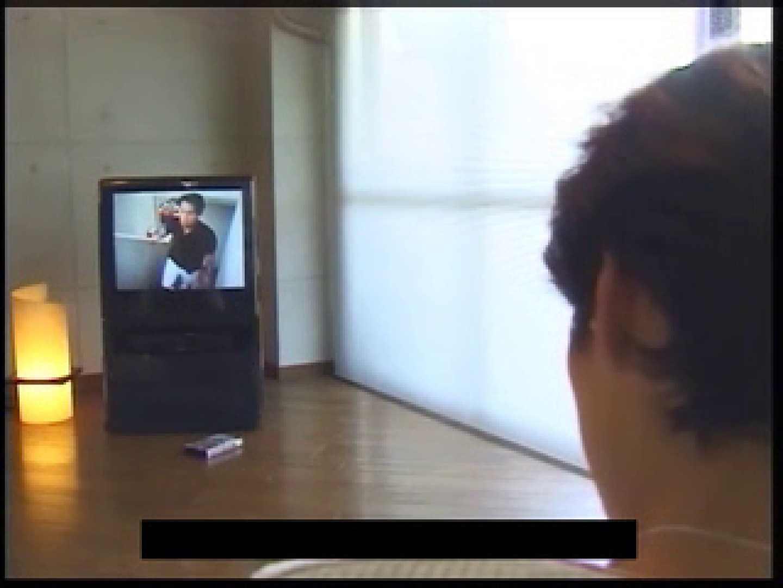 ビデオを見てオナニー中! ! ビデオの男優さんが現れた 顔射シーン | ゲイのオナニー映像  76枚 25
