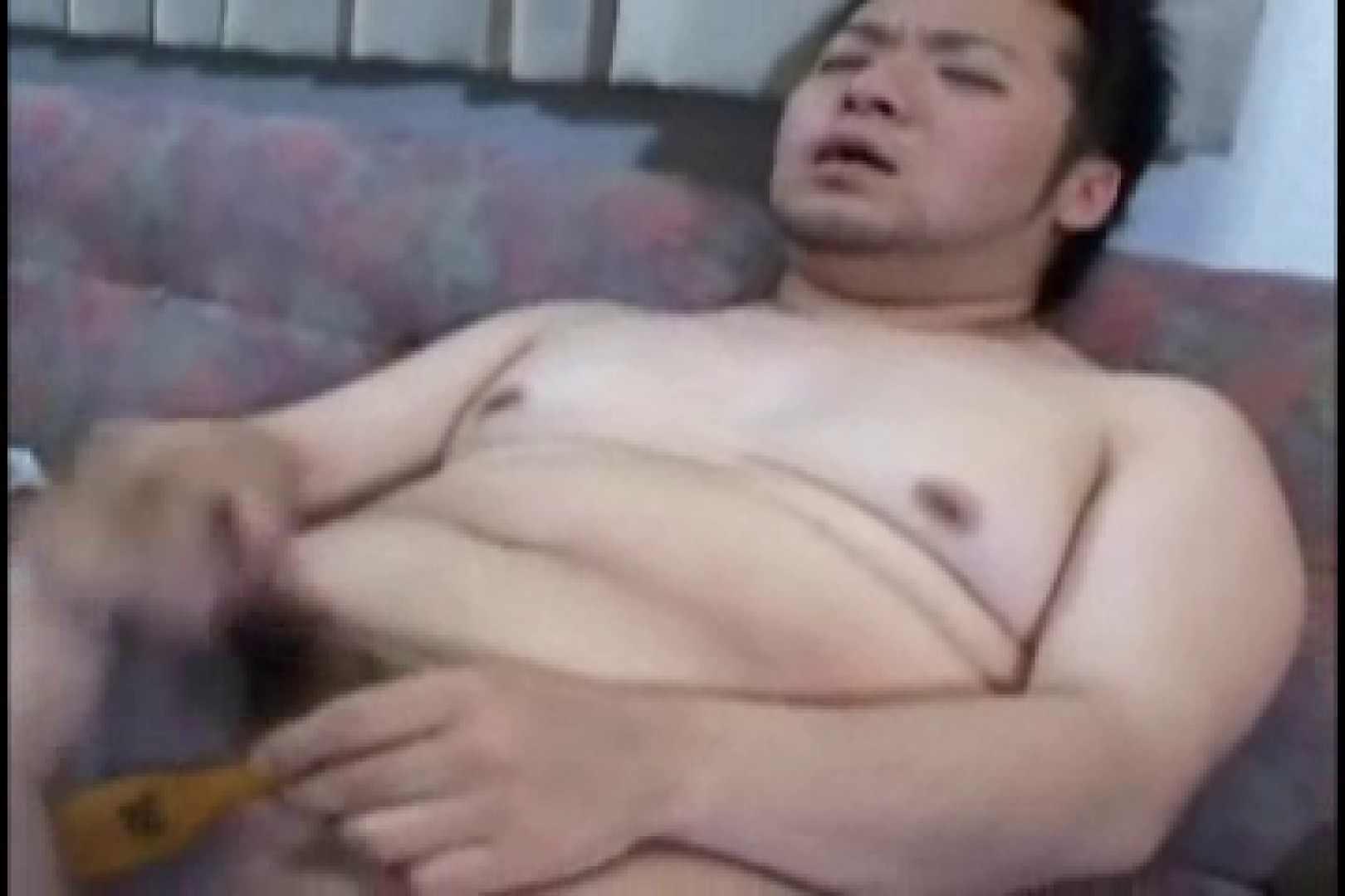 小太りボーイの孫の手オナニー ローション | ゲイのオナニー映像  78枚 64