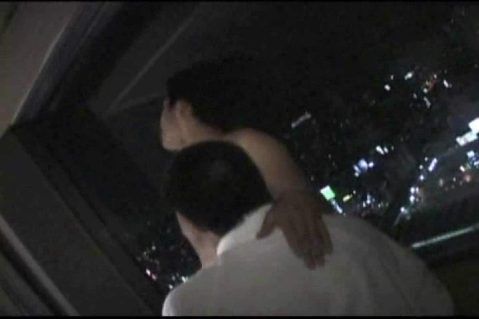 ホテルで密会!!夜景をバックに濃密ファック!! ゲイの裸 | バック  109枚 31